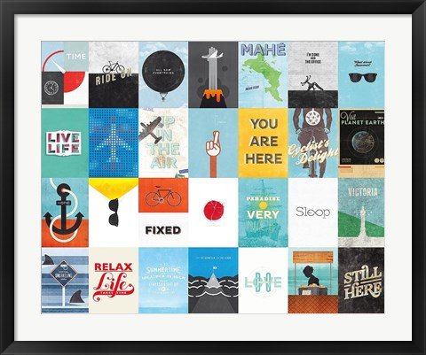 Framed Leisure Travel Vacation Print