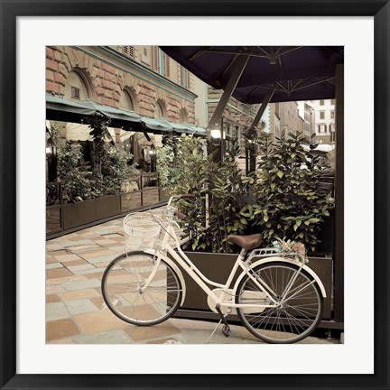 Framed Firenze Bicycle Print