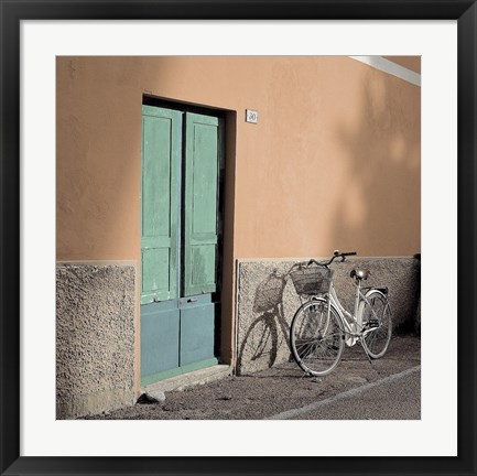 Framed Liguria Bicycle Print