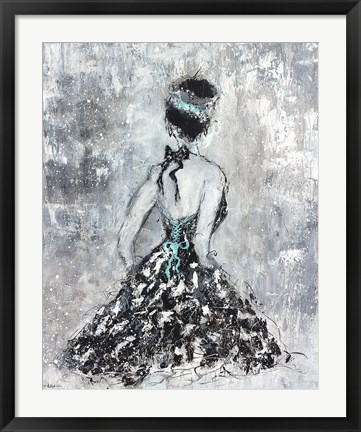 Framed Elegant Booba with Blue Sash Print