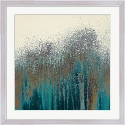 Framed Teal Woods Print
