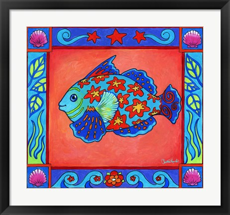 Framed Mosaic Fish Print