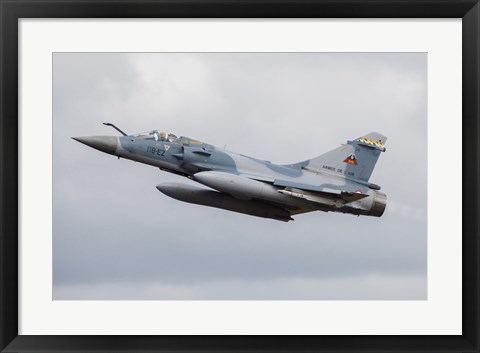 Framed French Air Force Mirage 2000C Fighter Jet Print