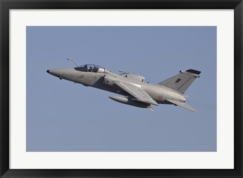 Framed Italian Air Force AMX Aircraft Taking Off Print