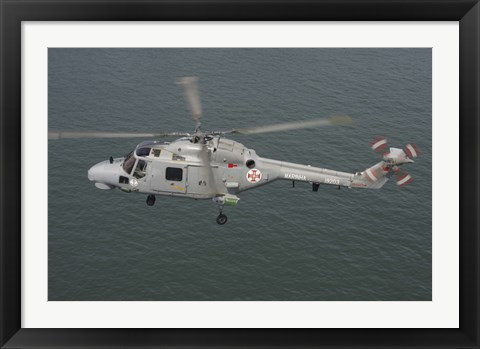 Framed Sea Lynx helicopter of the Portuguese Navy Print