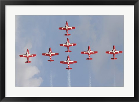 Framed Snowbirds 431 Air Squadron of the Canadian Air Force Print