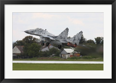 Framed Slovak Air Force MIG-29 Fulcrum taking off Print