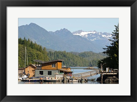 Framed British Columbia, Vancouver Island, Tofino, Floating houses Print