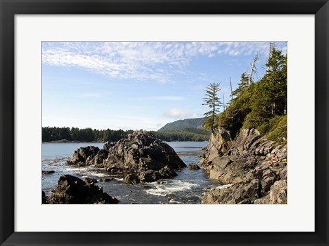 Framed Outcrop, Hot Springs Cove, Vancouver Island, British Columbia Print