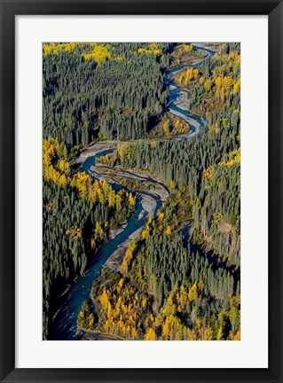 Framed Todagin Creek, River, South Slope, British Columbia Print