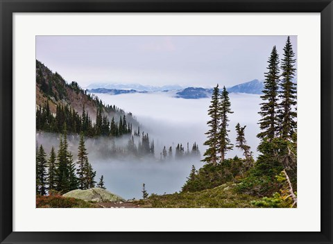 Framed British Columbia, Whistler Mountain, Clouds Print