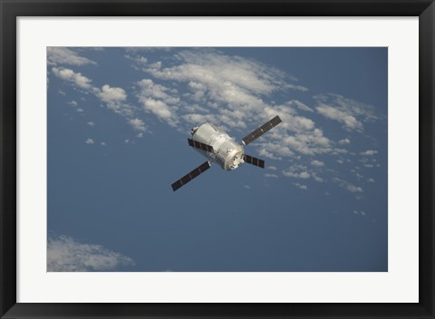 Framed Edoardo Amaldi Automated Transfer Vehicle-3 Resupply Spacecraft Print