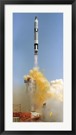 Framed Gemini-Titan 4 Spaceflight Launches from Cape Canaveral, Florida Print