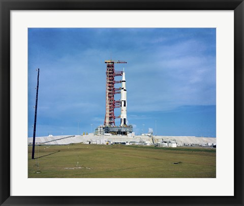 Framed Apollo Saturn 501 Launch Vehicle Mated to the Apollo Spacecraft Print
