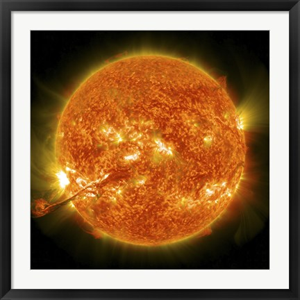 Framed Magnificent Coronal Mass Ejection Erupts on the Sun Print