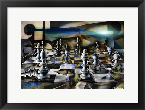 Framed Chess Abstract Print
