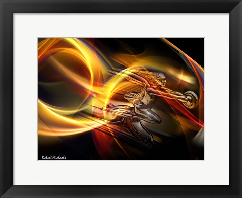 Framed Goddess of Speed in Light Print