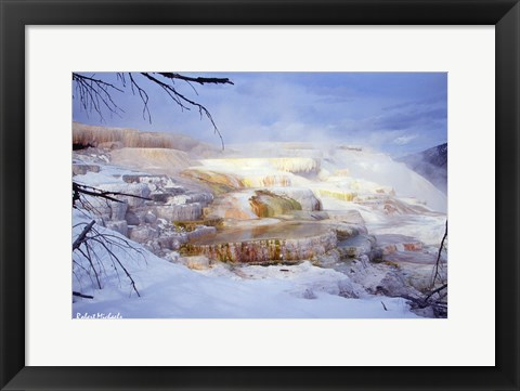 Framed Mammoth Hot Springs - Yellowstone Print