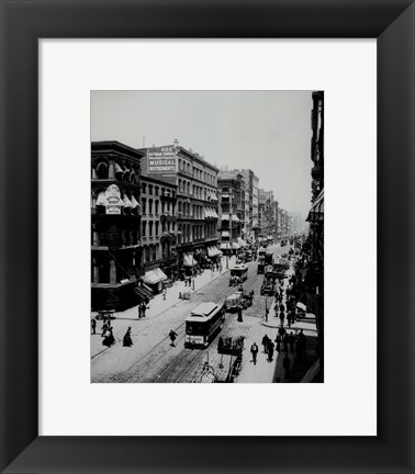 Framed view of Broadway,New York, New York- early 1900's Print