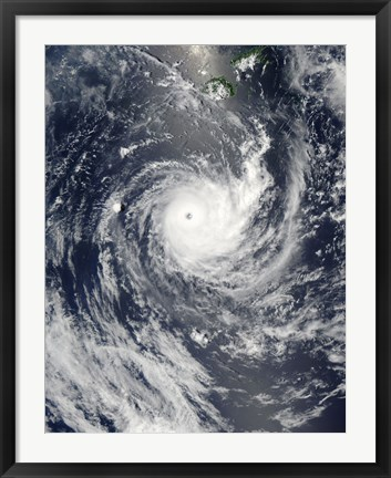 Framed Tropical Cyclone Wilma Print