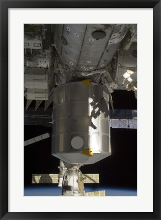 Framed Permanent Multipurpose Module attached to the International Space Station Print