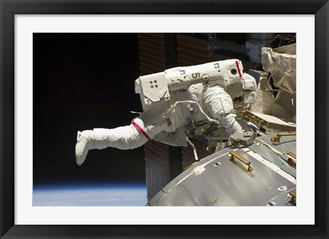 Framed Extravehicular Activity and Astronaut Print