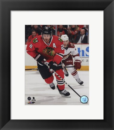 Framed Duncan Keith 2014-15 Action Print