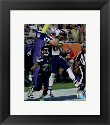 Framed Danny Amendola Touchdown Super Bowl XLIX Print
