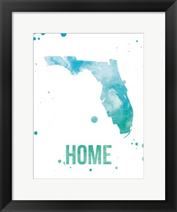 Framed Florida Watercolor - Home Print
