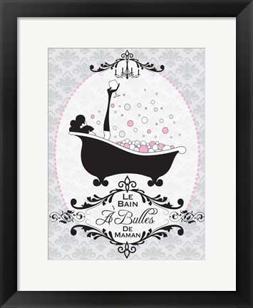 Framed Mommy's Bubble Bath 06 Print