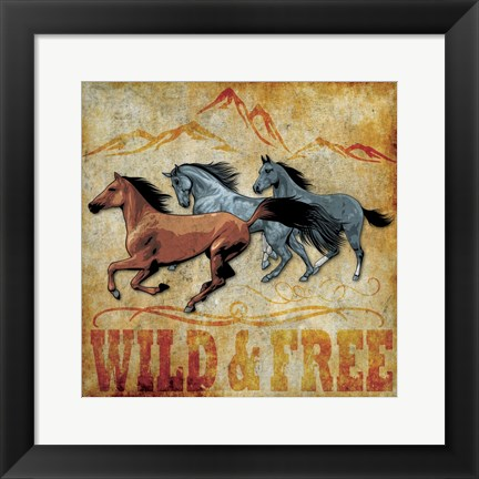 Framed Wild and Free 01 Print