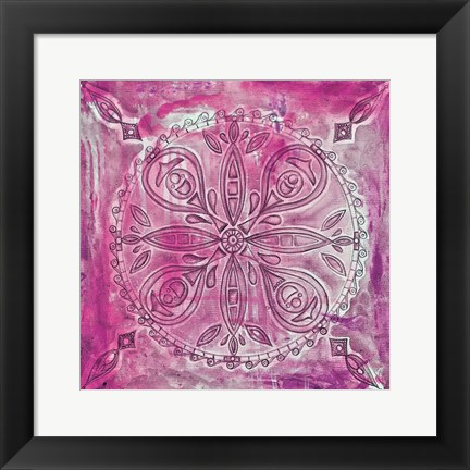 Framed Pink Scroll Print