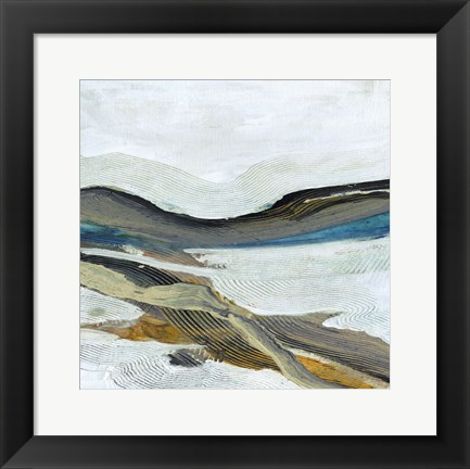 Framed Soothing Abstract 2 Print