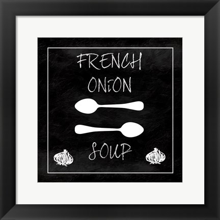 Framed French Onion Soup Print