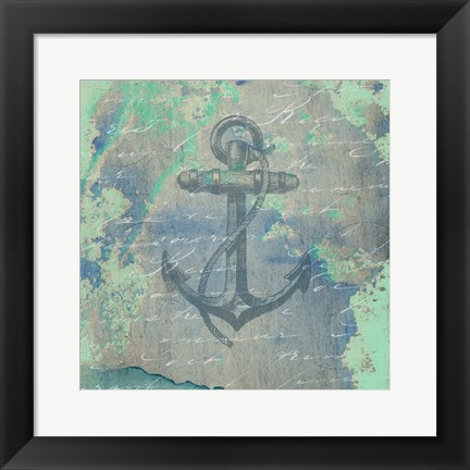 Framed Nautical Watercolor Print