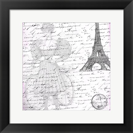 Framed Parisian Woman Print
