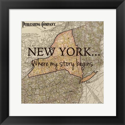 Framed New York My Story Print