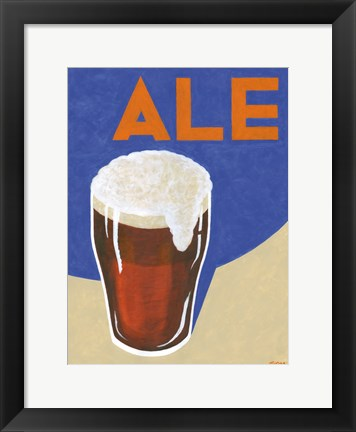 Framed Retro Ale Print