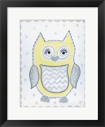 Framed Gray Owl Print