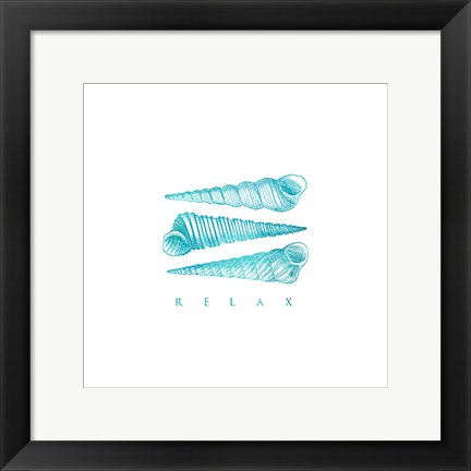 Framed Relax Shells Print