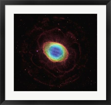 Framed Hubble Reveals the Ring Nebula's True Shape Print