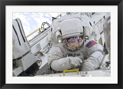 Framed Astronaut Participates in a Session of Extravehicular Activity (EVA)  on the International Space Station Print