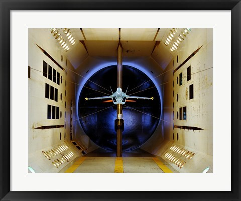 Framed A/A-18 E/F Model Tested in a Wind Tunnel Print