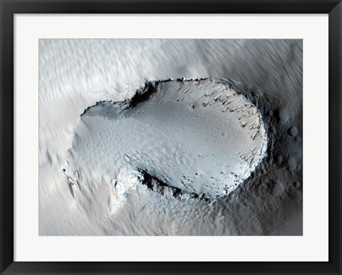 Framed small Cone on the Side of one of Mars' Giant Shield Volcanoes Print
