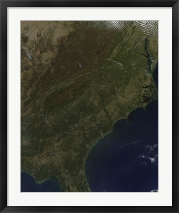 Framed Fall Colors in the Southeastern United States Print