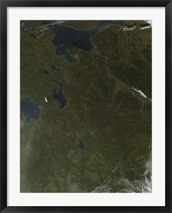 Framed Fall Colors in Northwestern Russia Print