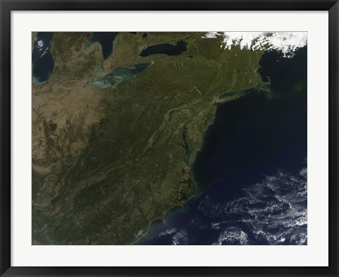Framed Fall Colors in the Northeastern United States Print