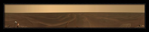 Framed Panoramic view of the Plains of Meridiani on the Planet Mars Print
