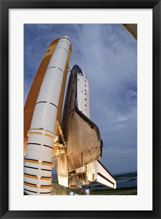 Framed Underside View of Space Shuttle Taking Off Print