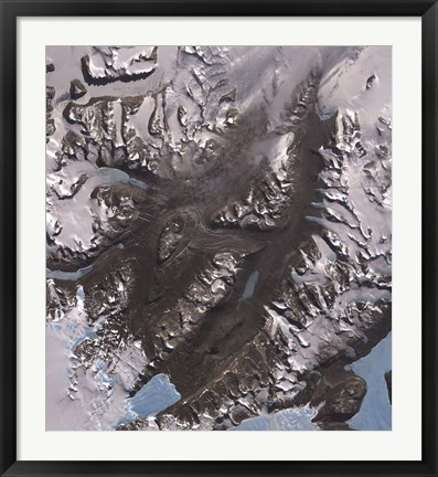 Framed McMurdo Dry Valleys West of McMurdo Sound, Antarctica Print